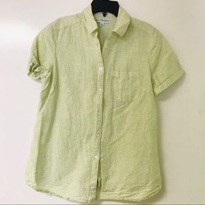Women's S Kim Rogers Green Button Up